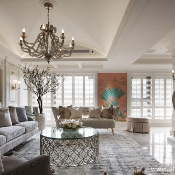 谁说乡村风格不能呈现高级感,专业装修设计打造高级定制豪宅