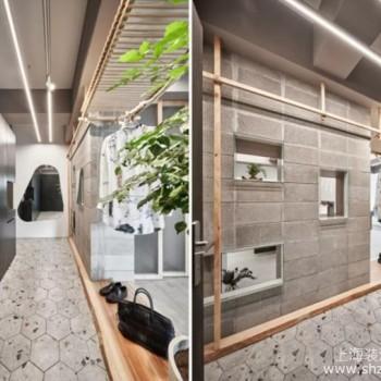 玄关采用双面柜设计,视觉外观惊艳且拥有强大收纳功能