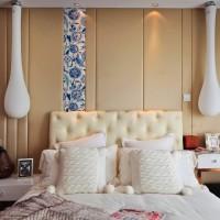 现代小户型卧室床灯具