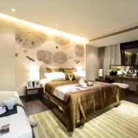 新中式中户型卧室床