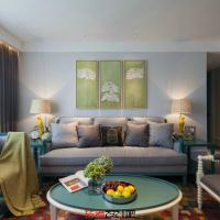 混搭风格客厅茶几装修设计