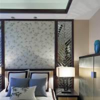 中式卧室背景墙装修案例
