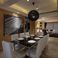 时尚现代风格餐厅餐桌图片