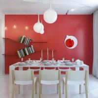 色彩活力的小公寓之餐厅