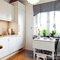 69㎡白色雅致的宜家复式小窝厨房